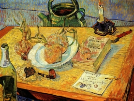 Van Gogh - Still Life with Drawing Board, Pipe, Onions & Sealing Wax - 1889