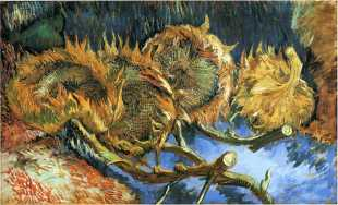 Van Gogh - Still Life with Four Sunflowers - 1887