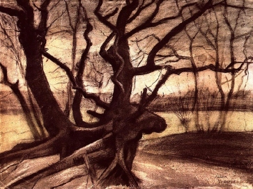 Van Gogh - Study of a Tree - 1882