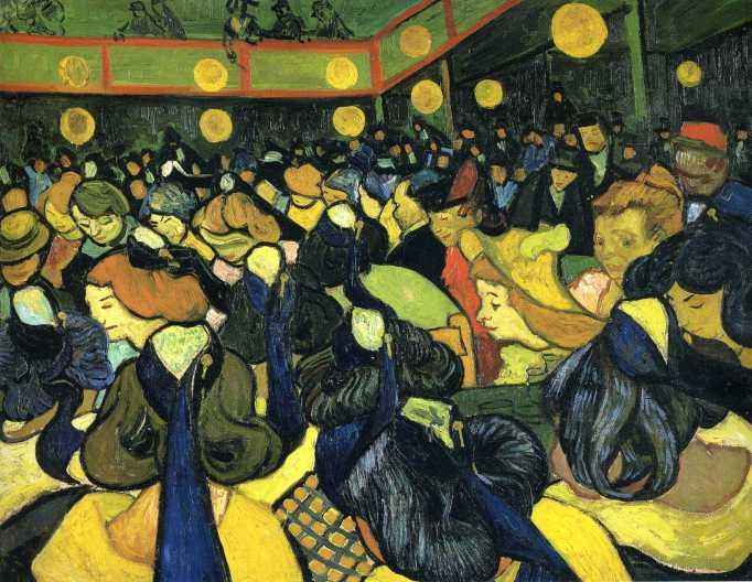 Van Gogh - The Ballroom at Arles - 1888