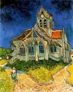 Van Gogh - The Church at Auvers - 1890