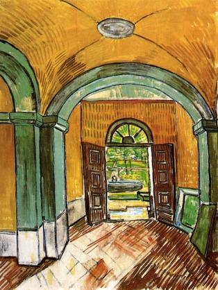 Van Gogh - The Entrance to the St. Paul Hospital - 1889