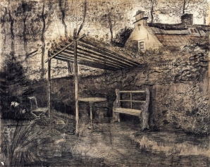 Van Gogh - The Garden of the Parsonage with Arbor - 1881