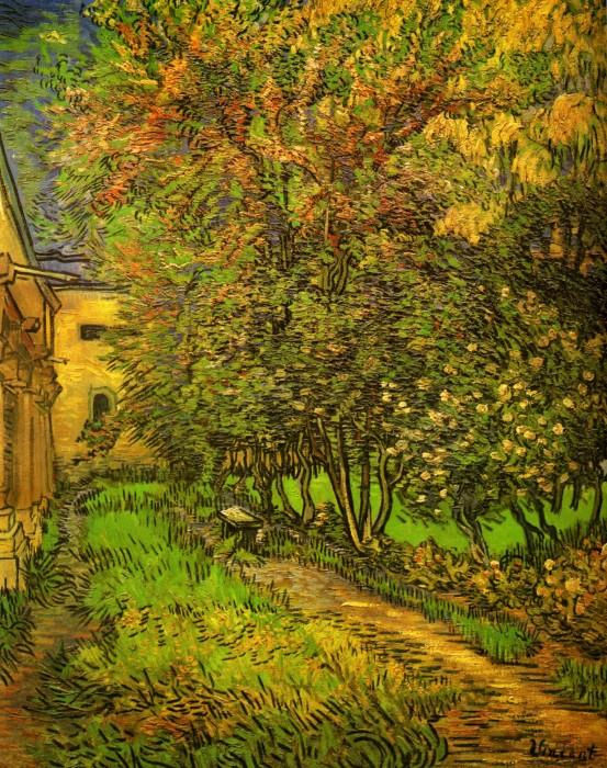 Van Gogh - The Garden of the St. Paul Hospital - 1889