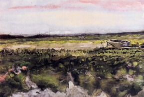 Van Gogh - The Heath with a Wheelbarrow - 1883