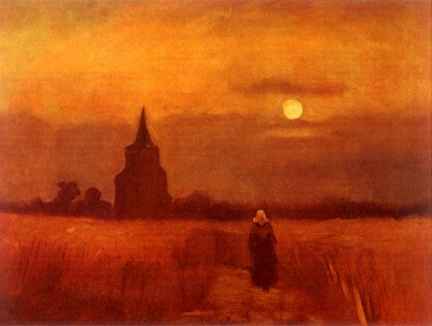 Van Gogh - The Old Tower in the Fields - 1884