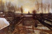 Van Gogh - The Parsonage Garden at Nuenen in the Snow - 1885