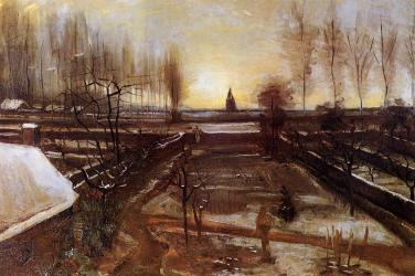 Van Gogh - The Parsonage Garden at Nuenen in the Snow - 1885