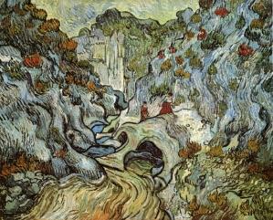 Van Gogh - The Ravine of the Peyroulets - 1889
