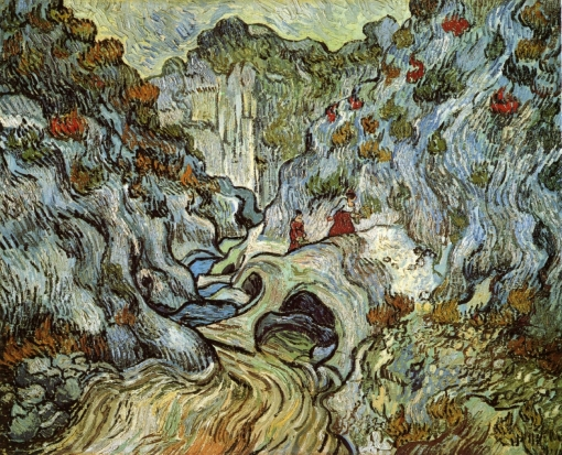 Van Gogh - The Ravine of the Peyroulets - 1889