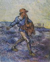 Van Gogh - The Sower (after Millet) - 1889