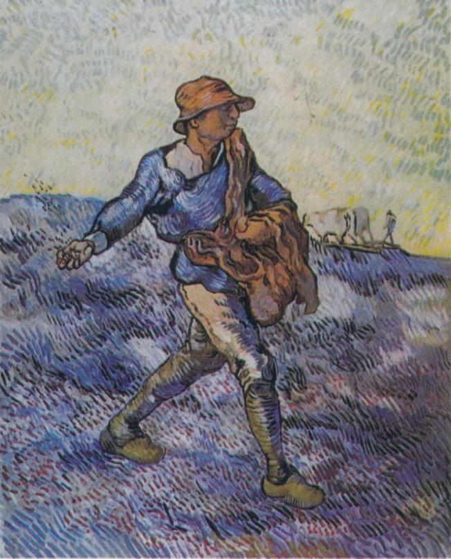 Van Gogh - The Sower (after Millet) - 1889
