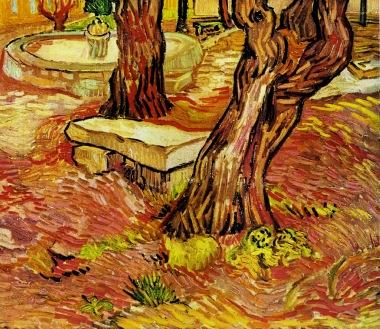 Van Gogh - The Stone Bench in the Garden at Saint Paul Hospital - 1889