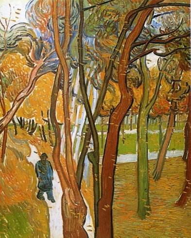 Van Gogh - The Walk (Falling Leaves) - 1889