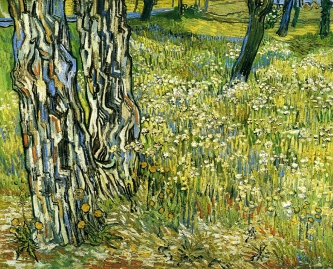 Van Gogh - Tree Trunks in the Grass - 1890