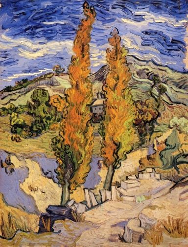 Van Gogh - Two Poplars on a Hill - 1889