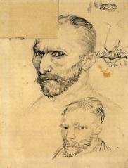 Van Gogh - Two Self-Portraits & Details - 1886