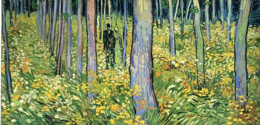 Van Gogh - Undergrowth with Two Figures - 1890