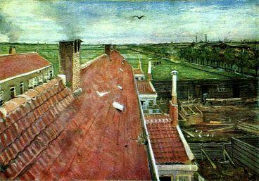 Van Gogh - View from the Window of Vincent's Studio in Winter - 1883