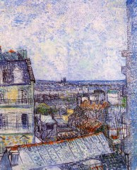 Van Gogh - View from Vincent's room in the Rue Lepic - 1887