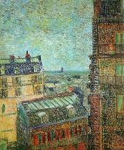 Van Gogh - View from Vincent's room in the Rue Lepic (2) - 1887