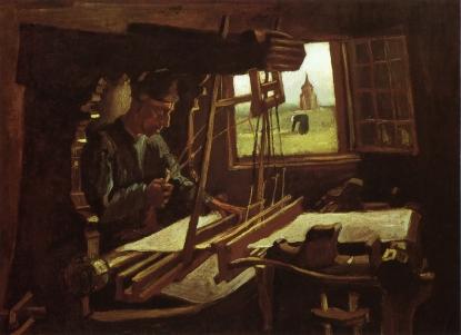 Van Gogh - Weaver near an Open Window - 1884