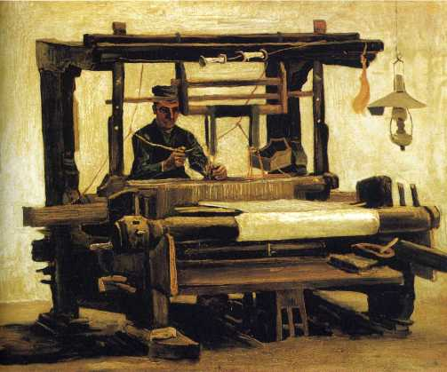 Van Gogh - Weaver, seen from the Front - 1884
