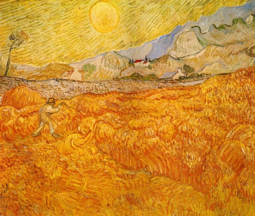 Van Gogh - Wheat Field Behind Saint Paul Hospital with a Reaper - 1889