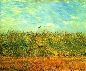 Van Gogh - Wheat Field with a Lark - 1887