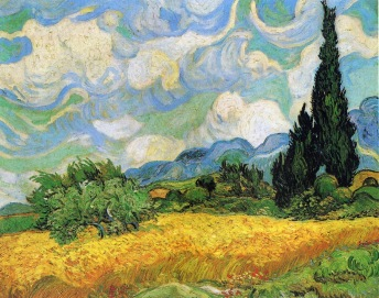 Van Gogh - Wheat Field with Cypresses at the Haude Galline Near Eygalieres - 1889