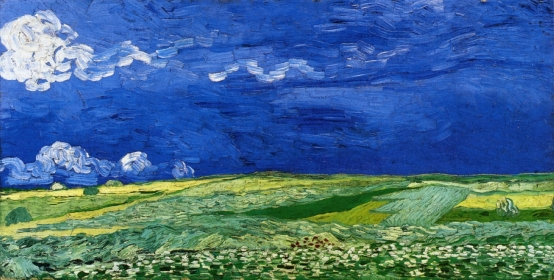 Van Gogh - Wheat Fields Under Thunderclouds - 1890