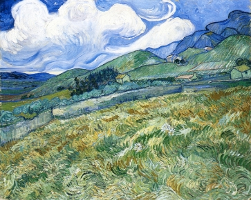 Van Gogh - Wheatfield with Mountains in the Background - 1889