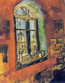 Van Gogh - Window of Vincent's Studio at the Asylum - 1889