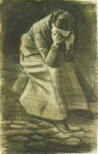 Van Gogh - Woman Sitting on a Basket with Head in Hands - 1881