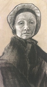 Van Gogh - Woman with Dark Cap, Sien's Mother - 1882