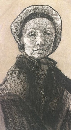 Van Gogh - Woman with Dark Cap, Sien's Mother - 1882