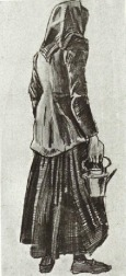 Van Gogh - Woman with Kettle, Seen from the Back - 1882