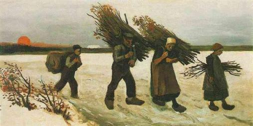 Van Gogh - Wood Gatherers in the Snow - 1884