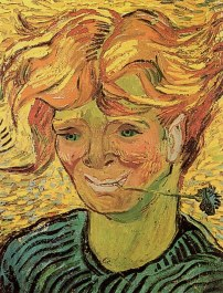 Van Gogh - Young Man with Cornflower - 1890