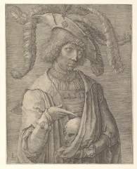 van Leyden - Young Man with Skull - 1519
