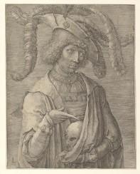 van Leyden - Young Man with Skull - 1519
