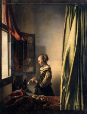 Vermeer - Girl Reading a Letter at an Open Window - 1659