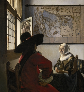 Vermeer - Officer and Laughing Girl - 1657