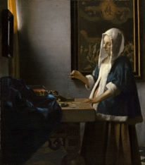 Vermeer - Woman Holding a Balance - 1663