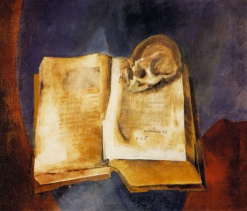 Vladimir Tatlin - A Skull on the Open Book - 1950