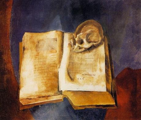 Vladimir Tatlin - A Skull on the Open Book - 1950