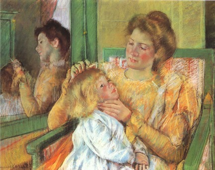 Cassatt - Mother Combing Her Child's Hair - 1879