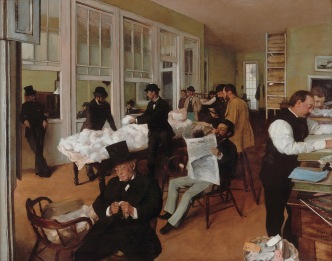 Cotton exchange in New Orleans *oil on canvas *73 x 92 cm *1873