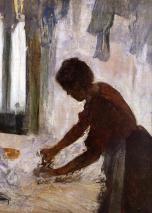 Degas - Woman Ironing (Silhouette) - 1873
