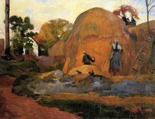 Gauguin - Yellow Haystacks (Golden Harvest) - 1889